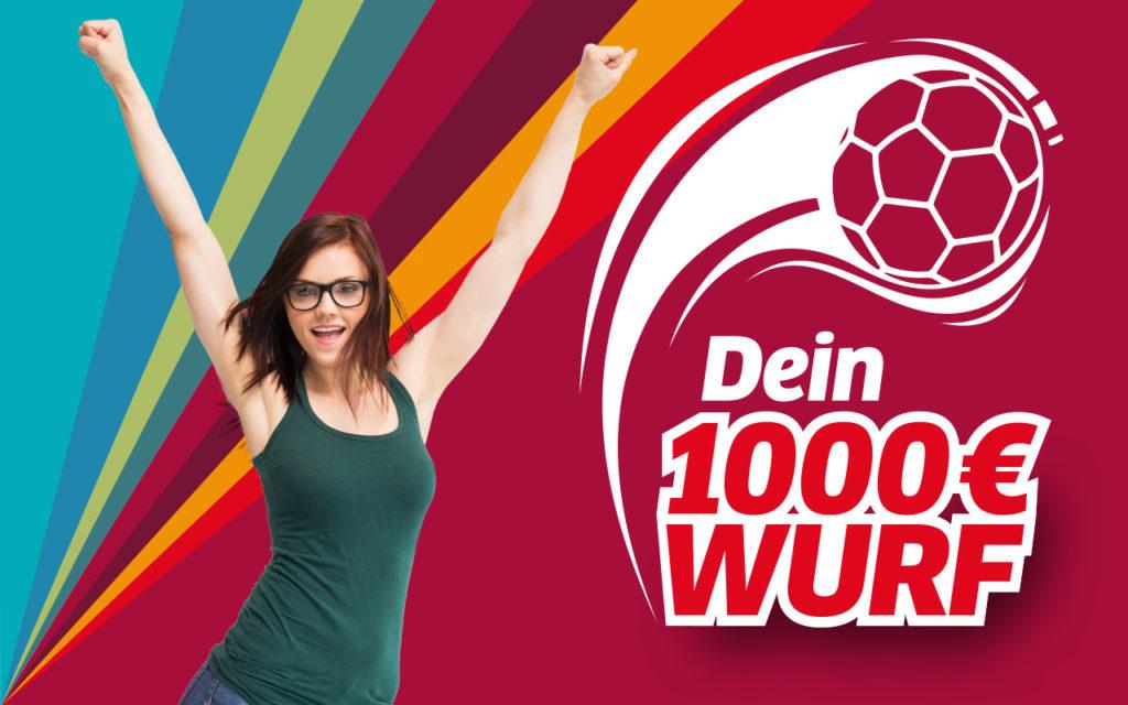 """Presse: Stadtwerke Halle als """"Sponsor of the Day"""" bei den Wildcats // Volle Halle und tolle Werfer beim 1.000 Euro-Wurf"""